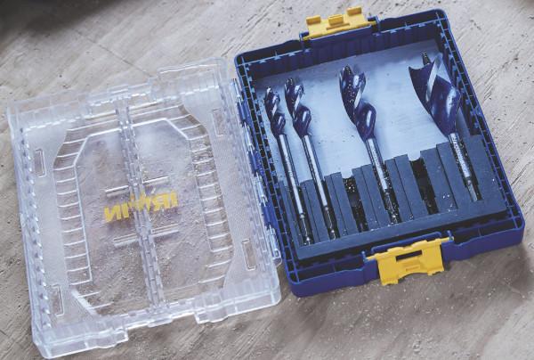 Inside the Irwin Medium Accessory Storage Case