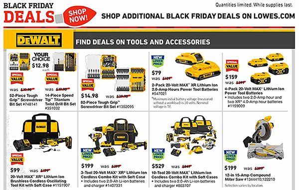 Lowes Black Friday 2019 Tool Deals Page 9