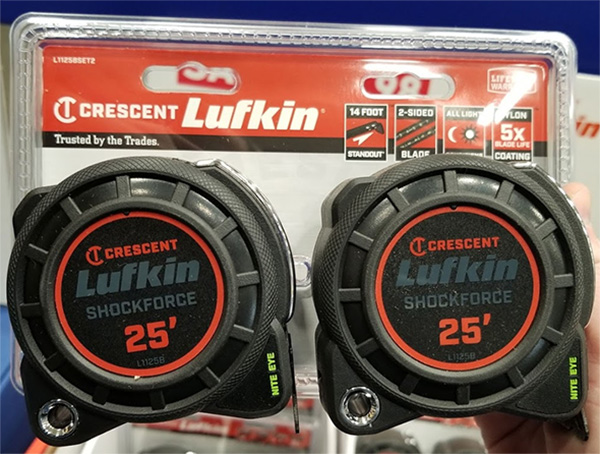 Lufkin Tape Measure 2-Pack L1125BSET2 Holiday 2019