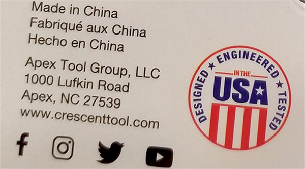 Lufkin Tape Measure COO Marketing Closeup