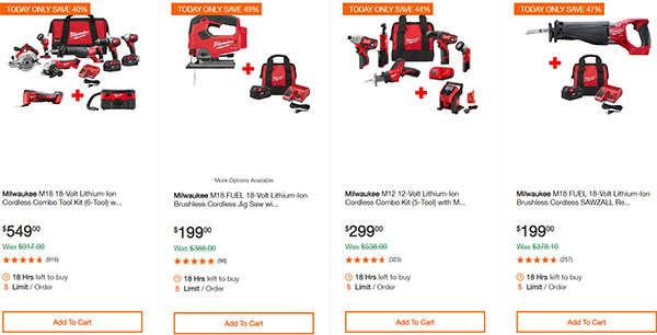 MIlwaukee Cordless Power Tools Home Depot Black Friday 2019 Deals Page 1