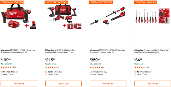 MIlwaukee Cordless Power Tools Home Depot Black Friday 2019 Deals Page 3
