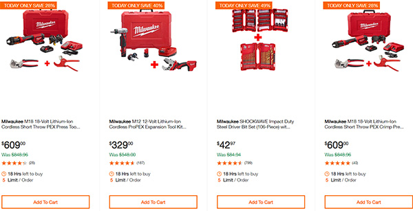 MIlwaukee Cordless Power Tools Home Depot Black Friday 2019 Deals Page 4