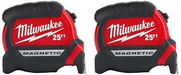 Milwaukee 48-22-0125G Tape Measure 2-Pack Holiday 2019