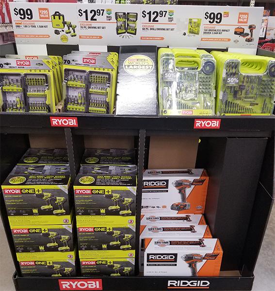 Ridgid R86038SB4 Brushless Impact Driver Deal H2019 Display
