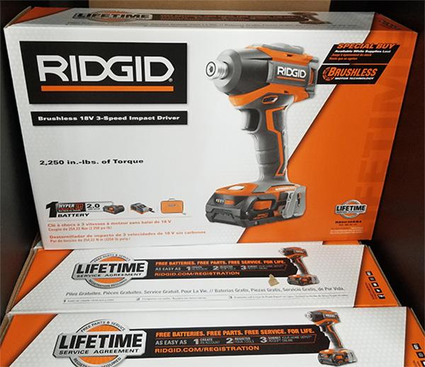 Ridgid R86038SB4 Brushless Impact Driver Deal H2019