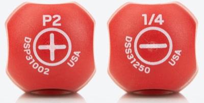 Tekton Hard-Handle Screwdriver Size Markings