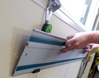 Fastcap Track Saw Rack - Installed on Garage Door