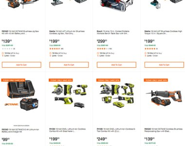Home Depot Cordless Power Tool Deals of the Day 12-3-19 Hero
