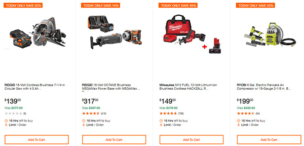 Home Depot Cordless Power Tool Deals of the Day 12-3-19 Page 3