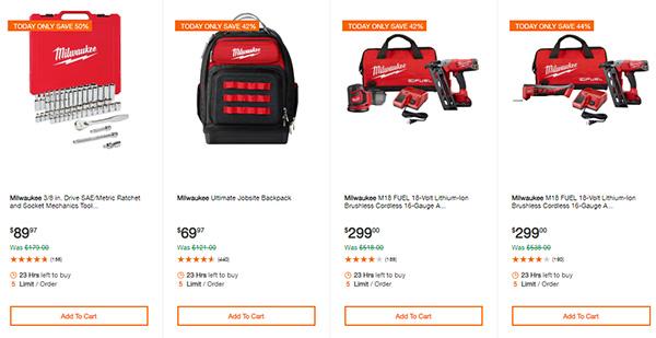 Home Depot Cyber Monday Dewalt Milwaukee Cordless Power Tool Deals Page 3