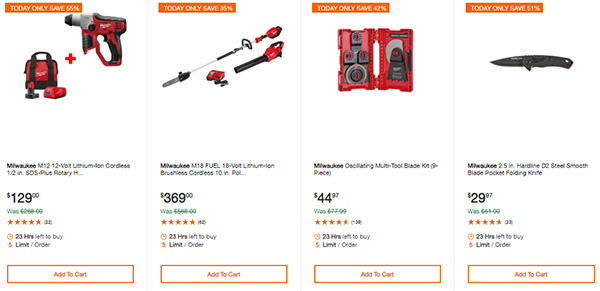 Home Depot Cyber Monday Dewalt Milwaukee Cordless Power Tool Deals Page 5