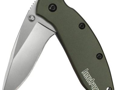 Kershaw Scallion Knife Green Handle Hero