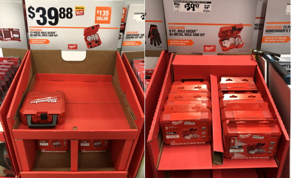 Milwaukee 17pc vs 9pc Hole Dozer Hole Saw Set Home Depot 2019 Holiday Special