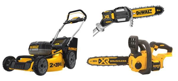 Dewalt 20V Chainsaw, Pole Saw and Lawn Mower