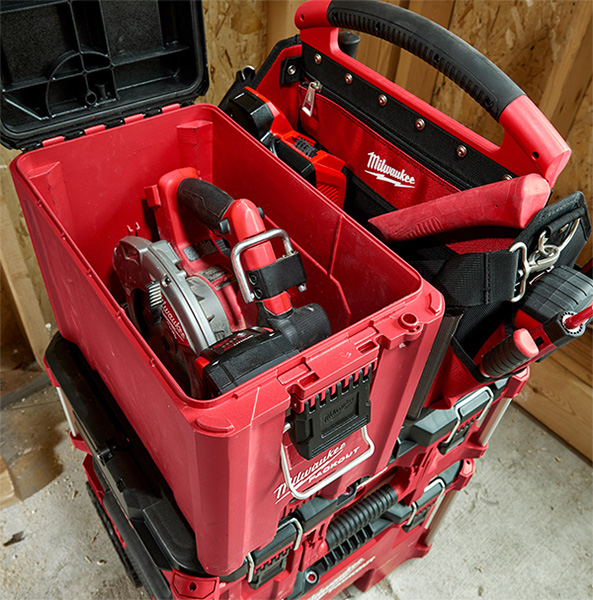 Milwaukee Packout Compact Tool Box 48-22-8422 with Circular Saw