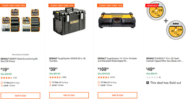 Dewalt Cordless Power Tool Deals Day 2-17-20 Page 10