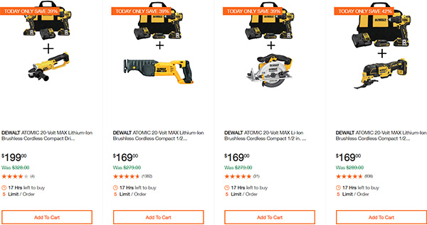Dewalt Cordless Power Tool Deals Day 2-17-20 Page 2