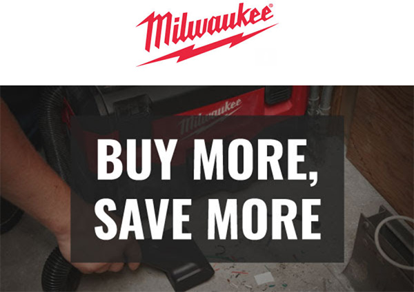 Milwaukee Buy More Save More Deal 02-2020