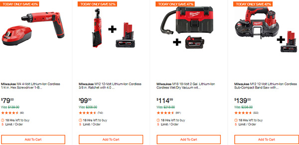 Milwaukee Cordless Power Tools Hand Tools Deal of the Day 2-24-20 Page 7