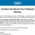 Lowes Order Delays