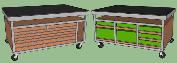 My DIY Multi-Function Table - Part 1 Goals and the Frame - SketchUp Design