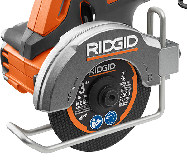Ridgid 18V SubCompact Cordless Power Tools Launch 2020 Multi-Material Saw R87547B Wire Guide