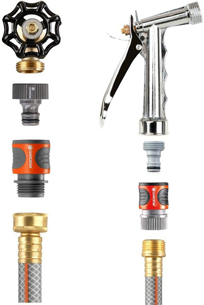 Brass Pipe Connectors 4 Way Water Split Manifold Hose Splitter Heavy Duty 3//4 Garden Hose Faucet Manifold Garden Hose Adapter Distributor with 4 Rubber Washers /&2 Thread Seal Tape Gold