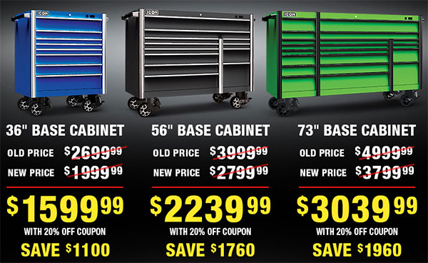 Harbor Freight Icon Tool Boxes Price Drop Pay 2020