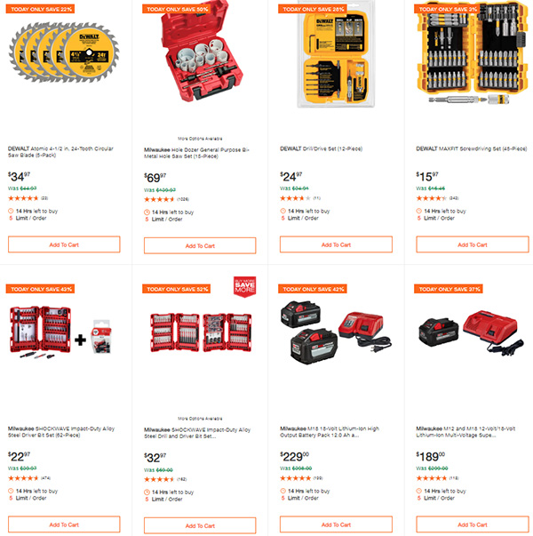Home Depot Milwaukee Dewalt Tool Deals of the Day 6-8-20 Page 5