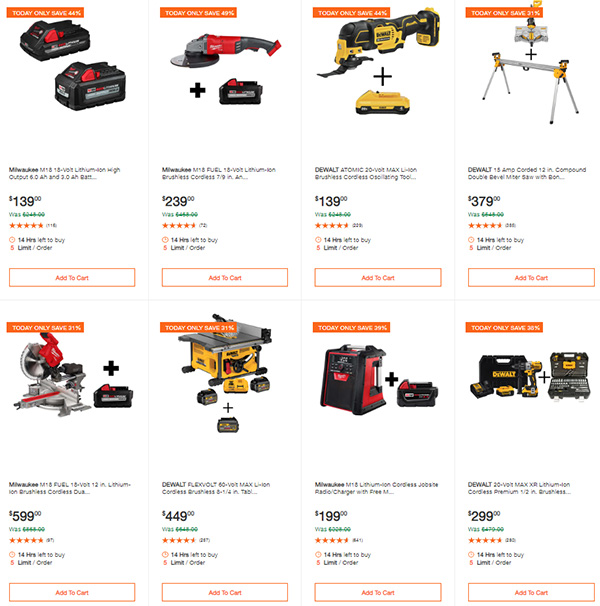 Home Depot Milwaukee Dewalt Tool Deals of the Day 6-8-20 Page 6