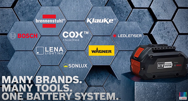 Bosch 18V Cordless Power Tool Alliance Many Brands