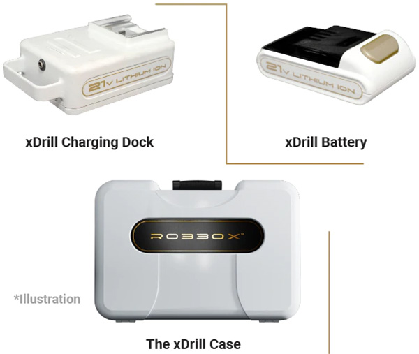Robbox xDrill Battery Charger Case Add-ons