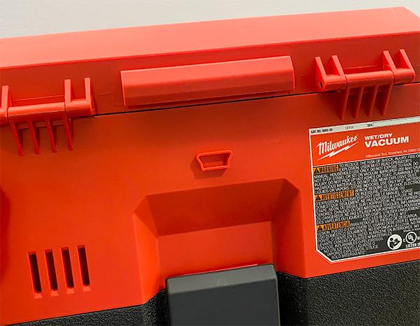 Milwaukee M12 Fuel Cordless Wet-Dry Vacuum Rear