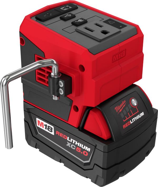 Milwaukee M18 Top-Off 2846-20 USB Power Adapter Rafter Hook