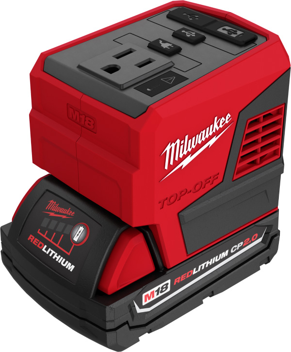 Milwaukee M18 Top-Off 2846-20 USB Power Adapter with CP 2Ah Battery