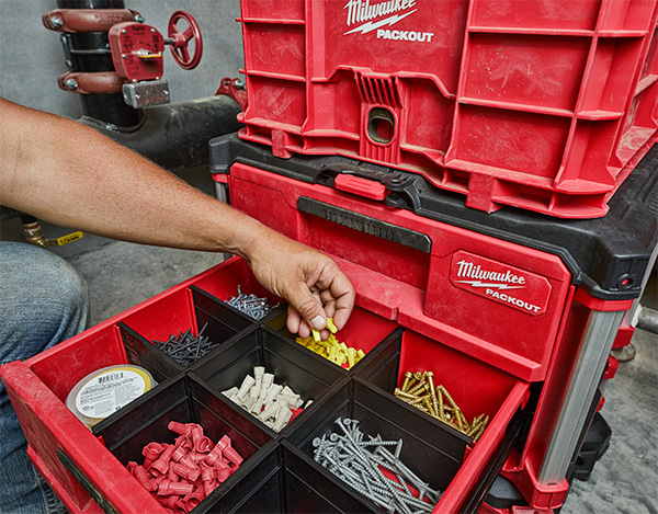 Milwaukee Packout 2-Drawer Tool Box Small Parts Organizer