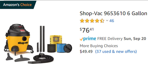 Shop-Vac Amazons Choice Vacuum