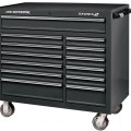US General 44 inch Double Bank Black Roller Cabinet