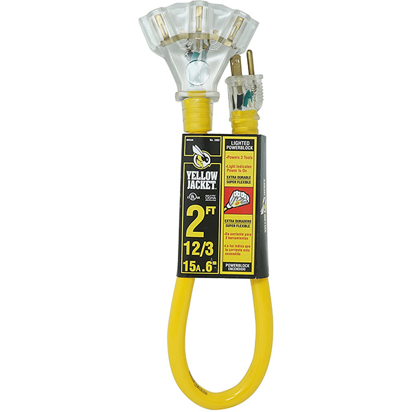 Yellow Jacket Extension Cord Splitter