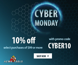 Acme Tools Cyber Monday Coupon 2020