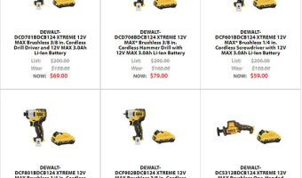 Dewalt Xtreme 12V Cordless Power Tool Deals Black Friday 2020