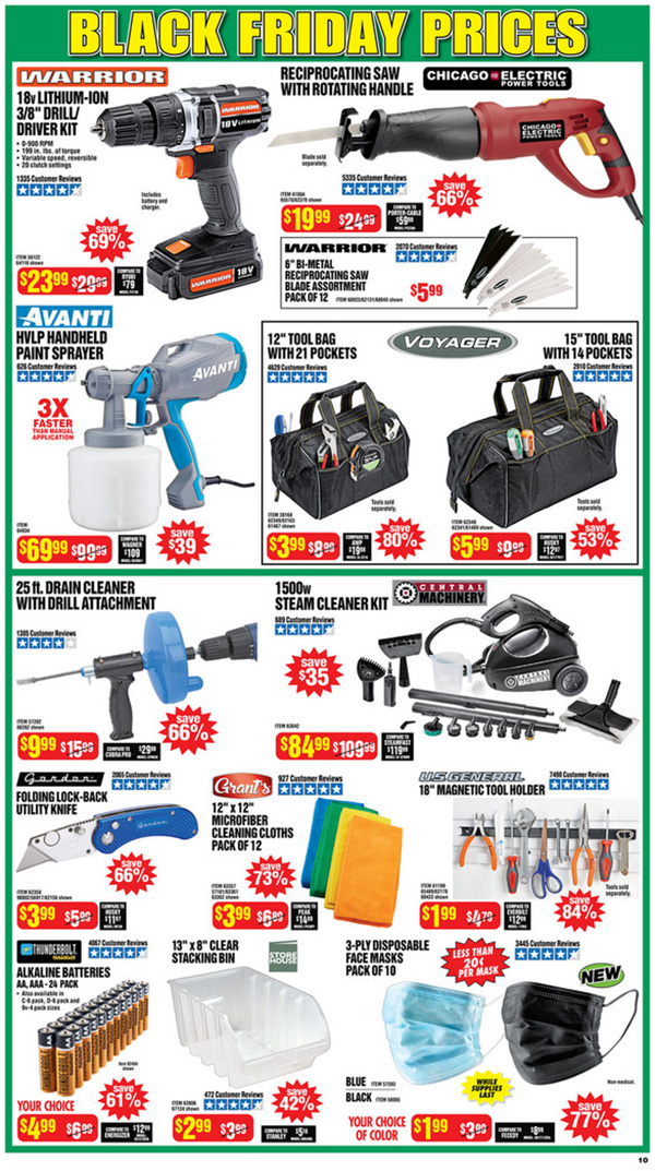 Harbor Freight Black Friday 2020 Tool Deals Page 10