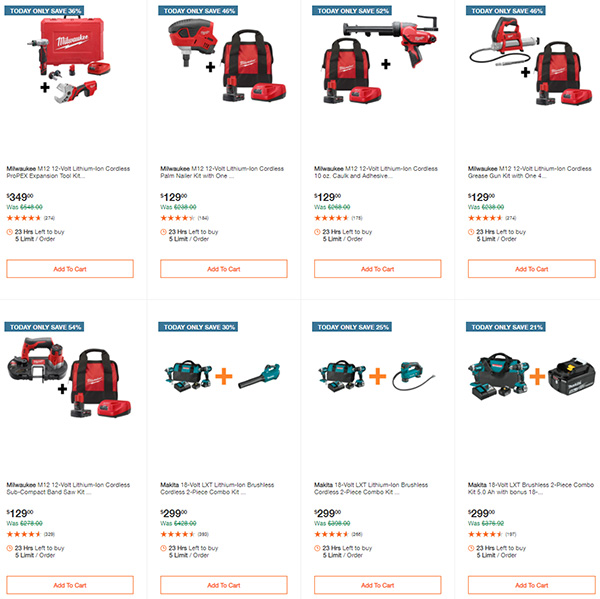 Home Depot Cyber Monday Dewalt Milwaukee Makita Tool Deals of the Day Page 4