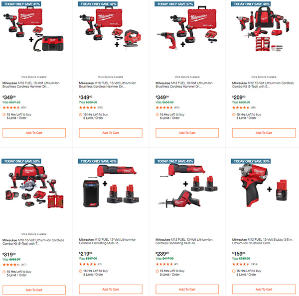 Home Depot Milwaukee Tool Deals of the Day 11-11-2020 Page 1