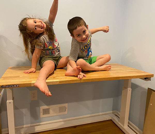 Husky Workbench Computer Desk with Kids