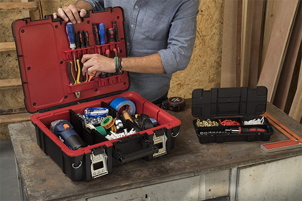 Keter Technician Tool Box in Example Use