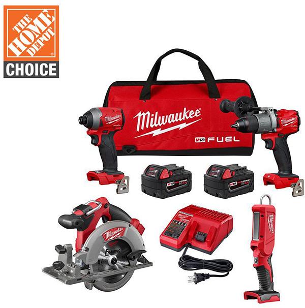 Milwaukee M18 Fuel 2998-24 Cordless Power Tool Combo Kit Home Depot Free Bonus 2020