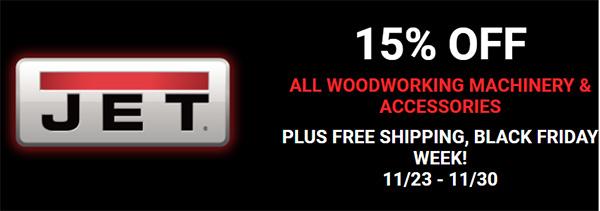 Rockler Jet Woodworking Deal Black Friday 2020