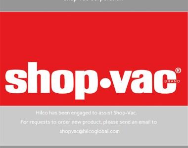 Shop-Vac Closure 2020
